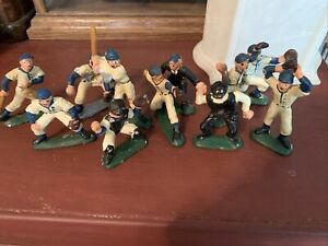 BARCLAY  CAST LEAD BASEBALL Players Umpire CIRCA 1920's 9 Players Plus Two Umps