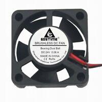 Ball Bearing 24V mini 3cm 30mm 30x30x10mm Brushless Cooling Cooler Fan 2pin New
