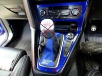 6 Speed Gear Gaiter Frame For Ford Focus MK3 FL 2015-18 Suede Leather Embroidery