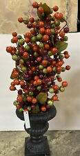 """22"""" Fall Thanksgiving Harvest Berry Topiary in Urn by Valerie Parr Hill"""