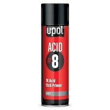 U-POL ácido #8 Gris 1K Etch Primer Aerosol Secado Rápido 450 Ml puede anti moho