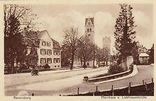 Ravensburg AK alt Pfarrhaus und Liebfrauenkirche Baden-Württemberg 1701512