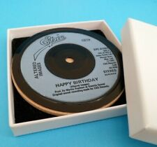 *NEW* Vinyl Record DRINKS COASTERS . Actual Singles used . Music Themed Gift (3)