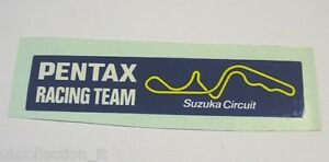 VECCHIO ADESIVO AUTO / Old Sticker F1 PENTAX RACING TEAM SUZUKA (cm 11,5x2,5)