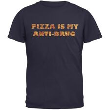 Pizza Is My Anti-Drug Navy Adult T-Shirt