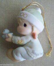 2000 Precious Moments Baby's First Boy Nib Porcelain Ornament 730106