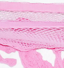 Ladies fishnet tights medium nets black white red passion pink yellow M / XL
