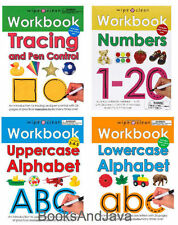 Wipe Clean Workbooks Tracing,Numbers,Uppercase & Lower Case Alphabet (Set of 4)