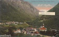 C004792  SVIZZERA  CANTON  TICINO  BIGNASCO E CAVERGNO PANORAMA  VG  1912