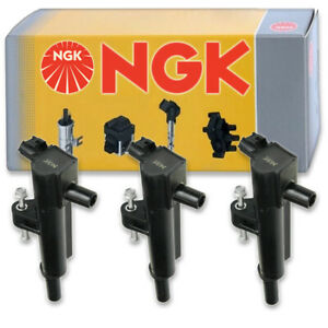 3 pcs NGK Ignition Coil for 2009-2012 Jeep Liberty 3.7L V6 - Spark Plug Tune pc