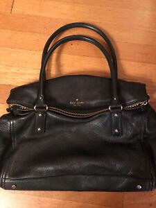 Kate Spade Black Pebble Leather Shoulder Bag