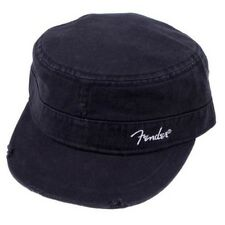 NEW Genuine Fender Military Cap, L/XL - BLACK, #919-0660-506