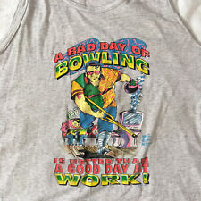 Vintage 90s Bowling Tank Top Graphic Print The Dude Lebowski 50/50 Extra Large