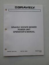 Original Gravely ~ Estate Mower Power Unit Operator's Manual ~ 33301(9-93)