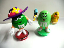 Set of 2 M&M Easter Decoration Egg Basket & Easter Bonnet Cake Toppers 1994