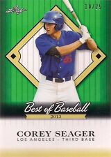 Corey Seager 2013 Leaf Best of Baseball BCS1 #d 10/25 Dodgers Rookie of Year HOT
