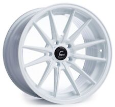 Cosmis Racing R1 18x8.5 5x100mm +35 White Wheels Fits Jetta Matrix Corolla Frs