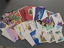 VINTAGE lot of UNUSED CHRISTMAS and other GREETING CARDS & envelopes birthday