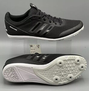 Adidas Mens Track And Field Distancestar Running Shoes Black Size 7.5 EUR 40 2/3