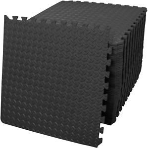 9Pcs Non-Slip Floor Tiles Rubber Puzzle Mat Kids Room Sport Yoga Indoor Outdoor