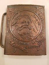 Nash Santa For President Rare 1927 Tiffany Co London Merry Christmas Belt Buckle