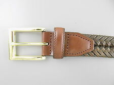 "Club Room $55 Brown MEN SYNTHETIC LEATHER SZ 39-40 WIDTH 1.25"" BELT BRAIDED  O31"