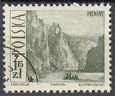 Polen gestempelt Berge See Natur Boot Schiff Landschaft Panorama / 160