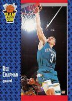 1991-92 Fleer Charlotte Hornets Basketball Card #229 Rex Chapman SD