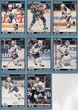 EDMONTON Oilers 1992 Score 8 Card Lot Damphousse Maciver Nichols Simpson Tugnutt