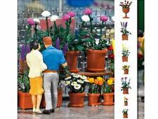 Busch 1209 FIORI VASO Set fiori riquadri 20 contenitore con fiori h0 KIT NUOVO