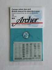 Archer 1/35 Compo Ration Boxes & British Biscuit Tin Stencils (2 styles) AR35283
