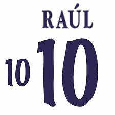 Raul 10. Spain Away football shirt 1998 - 1999 FLOCK NAMESET NAME SET PRINT
