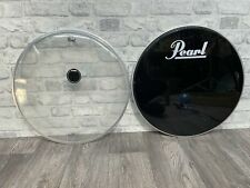 """More details for pearl by remo bass drum heads skins set of 2 20"""""""