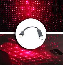 USB Rosso Auto Stella Tetto Soffitto Proiettore Laser Luce LED Interno Ambient