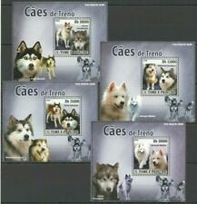 [STP] S. TOME & PRINCIPE 2008 DOGS, DOMESTIC PETS. 4 S/SHEETS