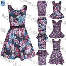 Polyester Wiggle, Pencil Floral Dresses for Women