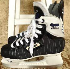 ✰ Bauer Supreme Classic Silver Hockey Skates Custom Tuuk Blades Nhl Us 4D Sz 5
