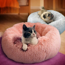 Super Soft Dog Bed Washable Long Plush Dog Kennel Calming Bed Deep Sleep Pet Bed