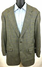 Brooks Brothers Men's Size 42L Wool Brown Houndstooth 2 Button Sport Coat Jacket