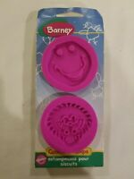 VINTAGE WILTON NEW 1998 BARNEY COOKIE STAMPS 2 PACK RARE FREE S/H
