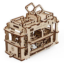 UGEARS TRAM WITH RAILS Mechanical 3D Wooden Puzzle Construction DIY Set