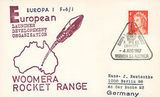 "ELDO-3 FDC AUSTRALIE WOOMERA ""Lancement Fusée EUROPA I - Vol F.6/1."" 1967"