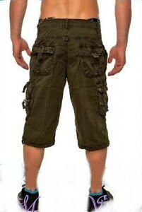 Herren Shorts Sommer shorts Cargo kurze Hose bermuda Khaki W 30 BW 33 cm NEU