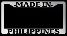 Chrome METAL License Plate Frame Made In Philippines Auto Accessory