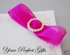 12 ROUND CIRCLE Pearl Wedding Invitation Buckle Slider