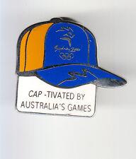 RARE PINS PIN'S .. OLYMPIQUE OLYMPIC SYDNEY 2000 CASQUETTE CAP SPONSOR ~13