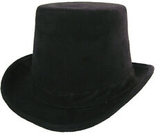 New Black Coachman Hat Halloween Costume Steampunk Victorian Carriage Driver