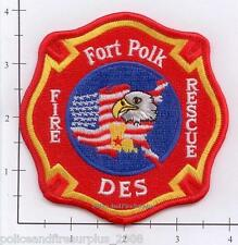 Louisiana - Fort Polk LA Fire Dept Fire Rescue Patch Military