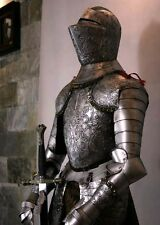Medieval Crusader Knight in Suit of Armor & Sword 5.2'H