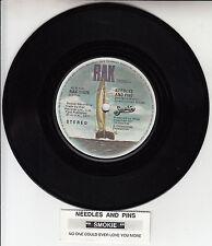 "SMOKIE Needles And Pins 7"" 45 rpm vinyl record + juke box title strip"